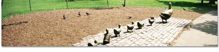 """Make Way for Ducklings Statues"", Public Gardens"