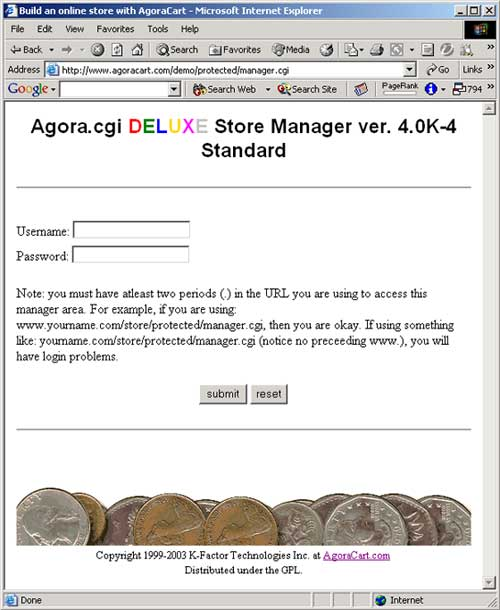Agora Cart Manager Screenshot